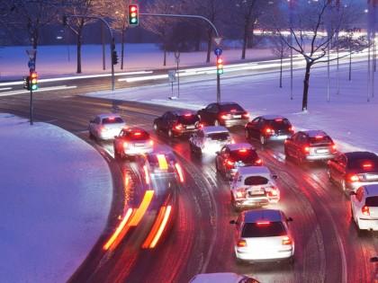 Sur les routes en hiver