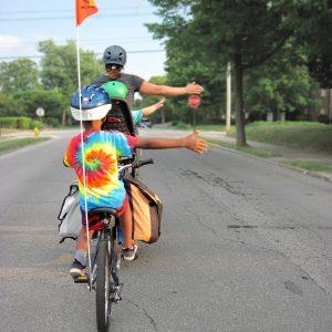 voyage à vélo avec enfants