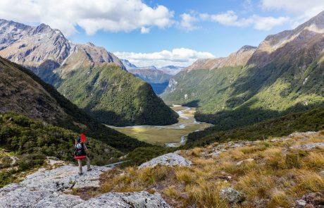 Op trekking in Nieuw-Zeeland