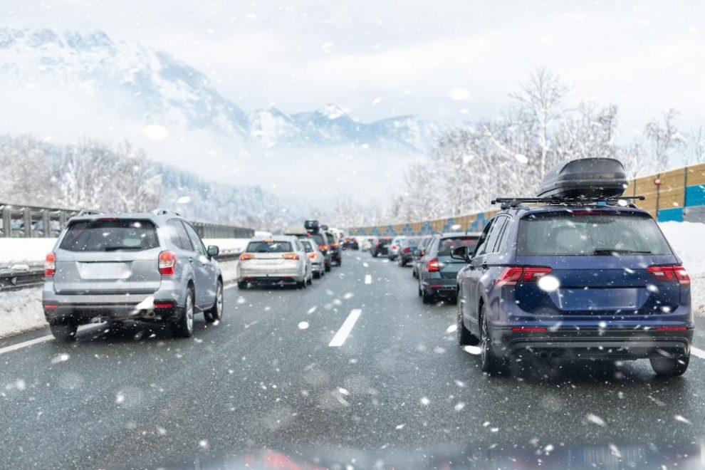 Het verkeer naar de Alpen deze winter (2020)