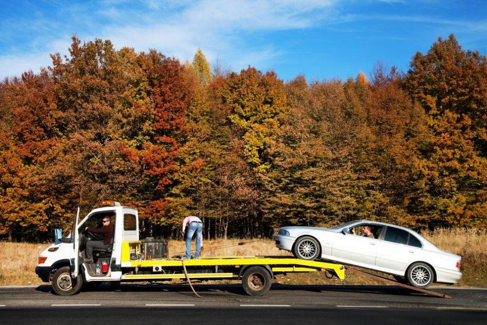 FAST bij autopech op een autosnelweg in Vlaanderen