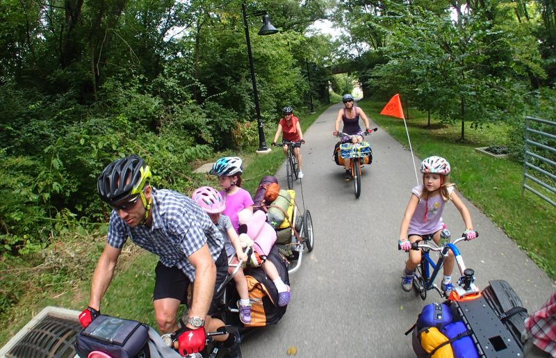 Passer un week-end à vélo en famille