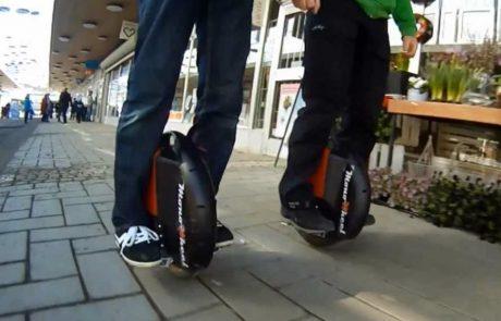 Zich verplaatsen met een elektrische éénwieler